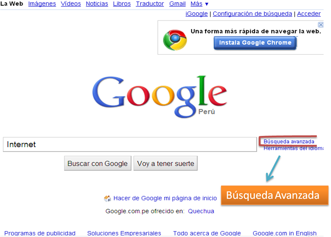 google mi pagina principal